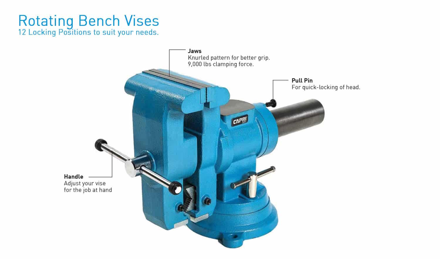 Rotating Bench Vises Vises Capri Tools